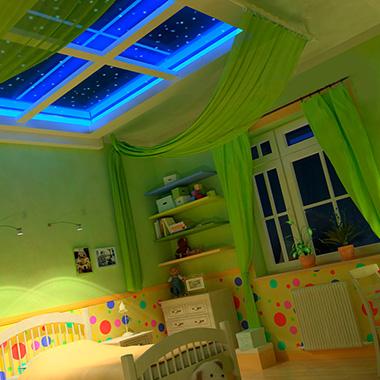 Натяжные потолки в детском саду: безопасно, современно, стильно